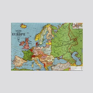 Map of Europe Rectangle Magnet