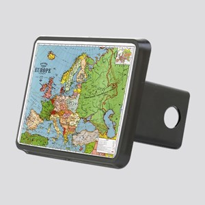 Map of Europe Hitch Cover