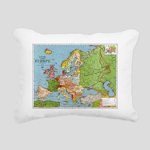 Map of Europe Rectangular Canvas Pillow