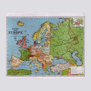 Map of Europe Throw Blanket