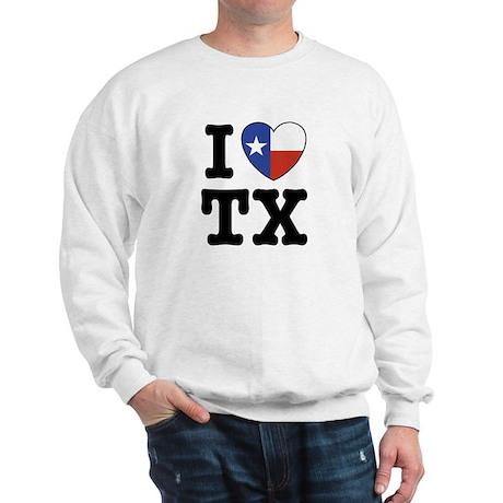 I Love TX (Texas) Sweatshirt