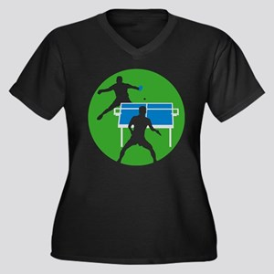 male table tennis players Plus Size T-Shirt