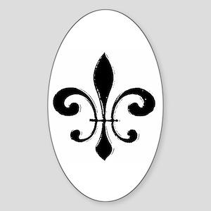 Fleur De Lis Oval Sticker