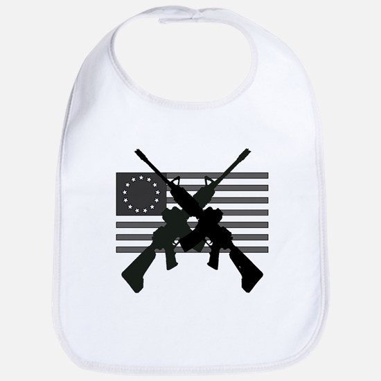 AR-15 and Revolutionary Flag Bib