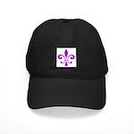 Fleur De Lis Purple Black Cap