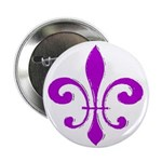 Fleur De Lis Purple Button
