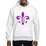 Fleur De Lis Purple Hooded Sweatshirt