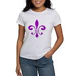 Fleur De Lis Purple Women's T-Shirt