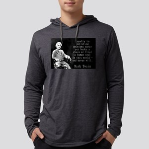 Loyalty To Petrified Opinions - Twain Mens Hooded