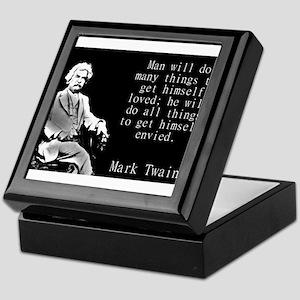 Man Will Do Many Things - Twain Keepsake Box