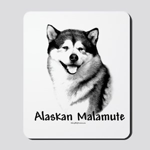 Malamute Charcoal Mousepad