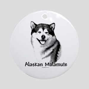 Malamute Charcoal Ornament (Round)