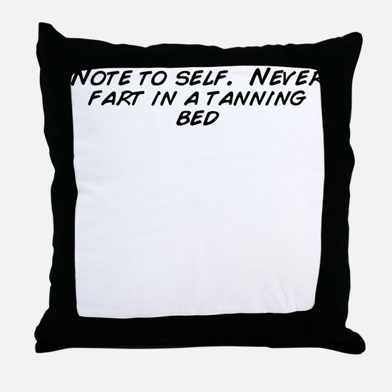 Cute Tanning Throw Pillow