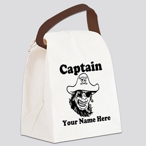Custom Captain Pirate Canvas Lunch Bag