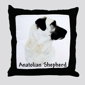 Anatolian Charcoal Throw Pillow