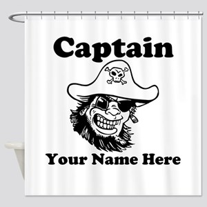 Custom Captain Pirate Shower Curtain