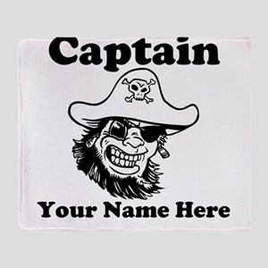 Custom Captain Pirate Throw Blanket