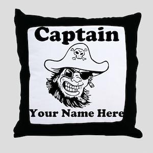 Custom Captain Pirate Throw Pillow