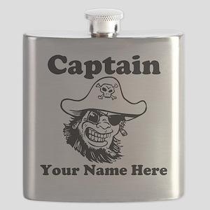 Custom Captain Pirate Flask