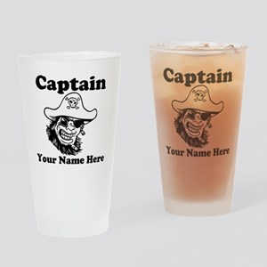 Custom Captain Pirate Drinking Glass
