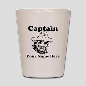 Custom Captain Pirate Shot Glass