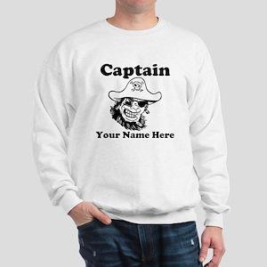 Custom Captain Pirate Sweatshirt