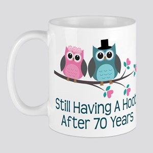 70th Anniversary Owls Mug