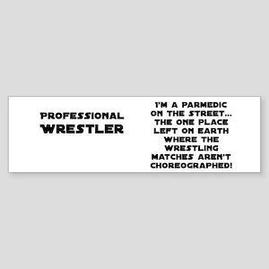 Pro Wrestling Paramedics Bumper Sticker