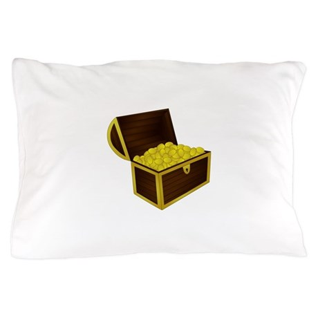 Treasure Chest With Gold Pillow Case