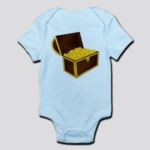 Treasure Chest With Gold Body Suit