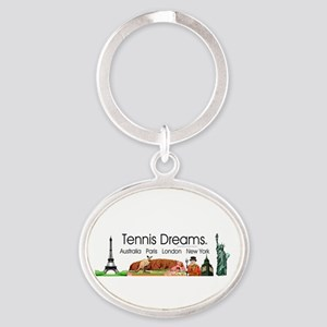 TOP Tennis Dreams Oval Keychain