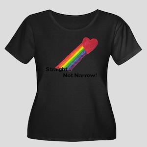 """Straight Not Narrow"" Plus Size T-Shirt"
