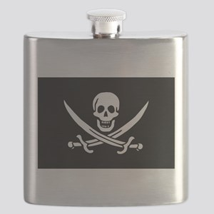 Black Calico Jack Flag Flask