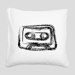 Mixtape Square Canvas Pillow