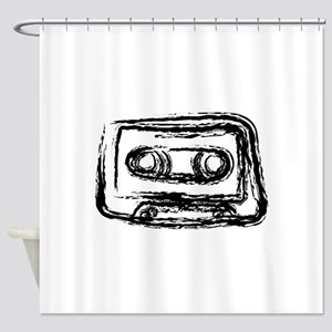 Mixtape Shower Curtain