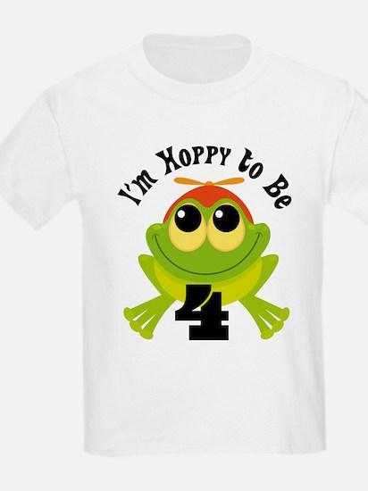4th Birthday Frog T-Shirt