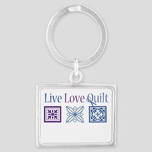 Live Love Quilt Landscape Keychain