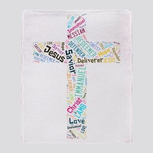Names of Jesus Throw Blanket