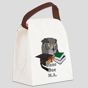 Custom Owl Graduate Canvas Lunch Bag