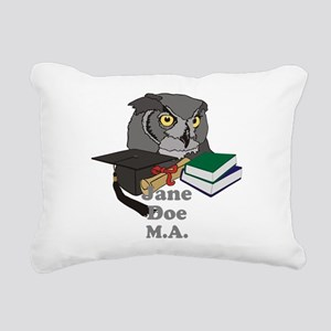 Custom Owl Graduate Rectangular Canvas Pillow