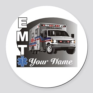 Custom Personalized EMT Round Car Magnet