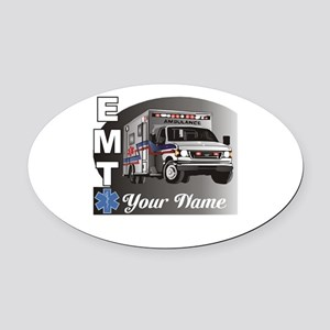 Custom Personalized EMT Oval Car Magnet