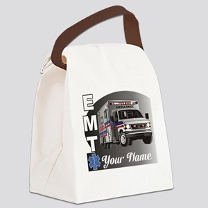 Custom Personalized EMT Canvas Lunch Bag