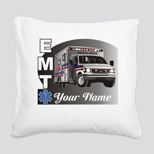 Custom Personalized EMT Square Canvas Pillow