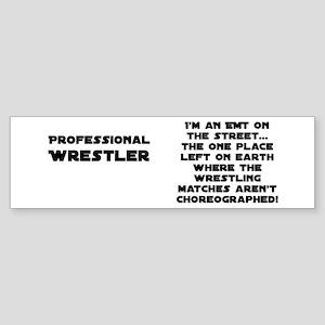 Pro Wrestling EMTs Bumper Sticker
