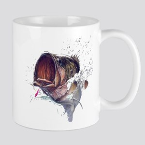 Bass breaking through shirt Mug