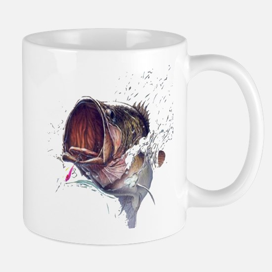 Bass breaking through shirt Mug