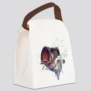 Bass breaking through shirt Canvas Lunch Bag