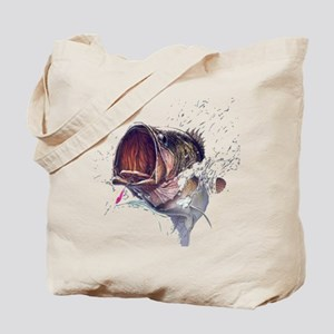 Bass breaking through shirt Tote Bag