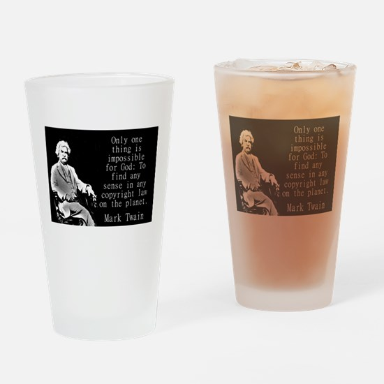 Only One Thing Is Impossible - Twain Drinking Glas